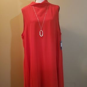 Red flowy dress 18W